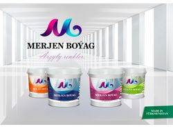 Merjen Boyag (Emulsion paint products packaging)