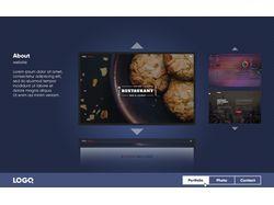Дизайн сайта-портфолио.