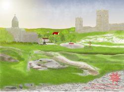 Иверская церковь и Генуэзская крепость в Феодосии