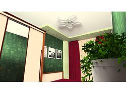 Визуализация спальной комнаты.