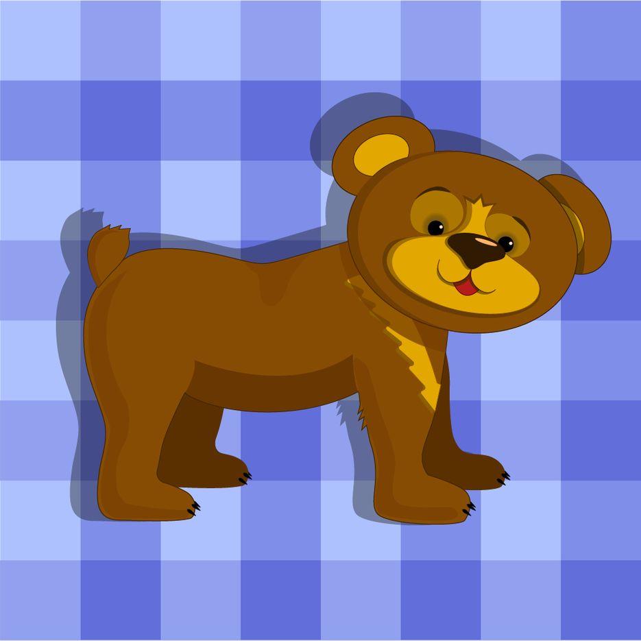 Медвежонок идет гулять