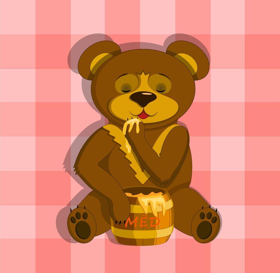 Медвежонок и мёд