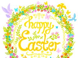 Happy Easter decorative postcard