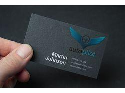 Визитка для автосервиса AutoPilot