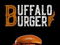 Логотип и флаер для бургерной BuffaloBurger