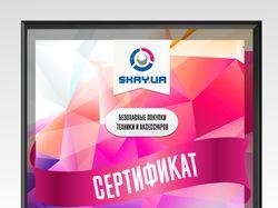 Сертификат для SKAY.UA