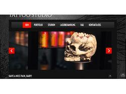 Сайт для тату-студии