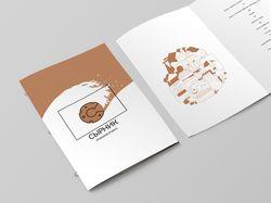 Меню, иллюстрация и визитка для ресторана Сырник