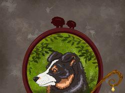 """Рисунок из серии """"Породы собак"""""""
