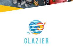 Логотип для кафе мороженного Glazier