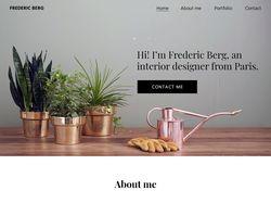 Сайт-портфолио дизайнера интерьера