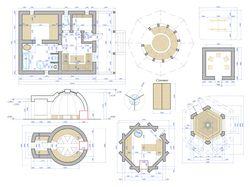 чертежи домиков, проекции зданий