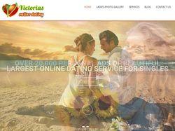 Одностраничный сайт Victorias Online Dating