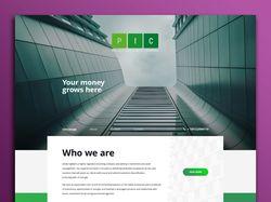 """Дизайн инвестиционной компании """"ИПК"""" Proinco.eu"""