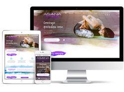 Дизайн сайта для фестиваля йоги AsanaFest