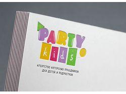 Логотип для агенства детских праздников PartyKids