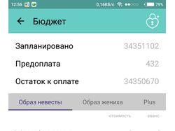 Приложение проекта Свадьба+ (iOS и Android)