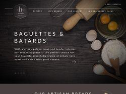 Дизайн для сайты пекарни