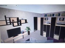 Гостиная + спальня. Зонирование комнаты 19м2