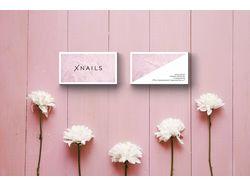 Фирменный стиль для салона красоты Xnails