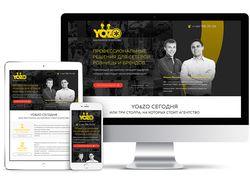 Дизайн сайта рекламного агентства Yo&Zo