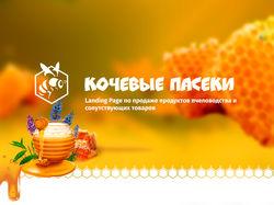 Landing Page по продаже продуктов пчеловодства