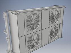3d-сборка сухого охладителя