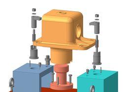 3d-сборка приспособления для обработки корпуса