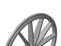 3d-модель ступицы намоточного колеса