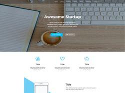 Дизайн Landing Page. Первая работа после выпуска