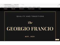 Сайт пекарни GEORGIO FRANCIO