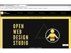 Сайт веб дизайн студии OPEN WEV DESIGN STUDIO