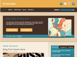HTML страница с эффектами CSS