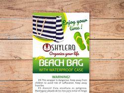 Этикетки для пляжных сумок