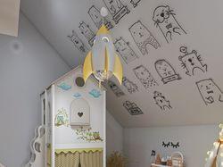 Совмещенная детская из двух комнат