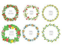 Весенние и Рождественский веночки