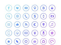 web and social media icons