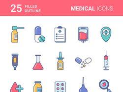 Набор иконок медицинской тематики