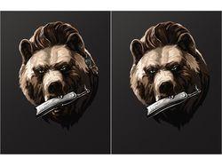 медведь-хипстер