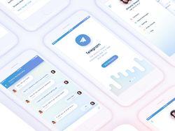 Концепт Моб Приложения Телеграма