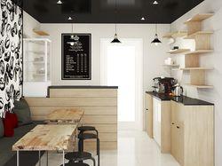 Дизайн - эскизы  небольшой кофейни