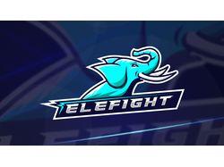 Elefight. Esport logo.