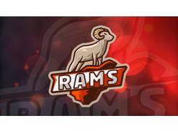 Rams. Esport Logo
