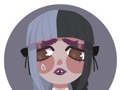 Flat art Melanie Martinez (Cry baby).