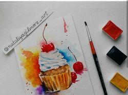 Иллюстрация. Пирожное.