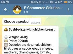 Телеграмм бот доставки