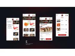 Дизайн мобильного приложения доставка суши