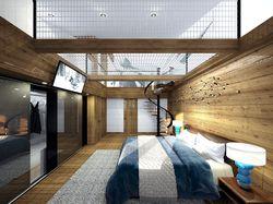Спальня с батутом для ребенка