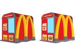 Графика для внутреннего портала McDonalds Украина.