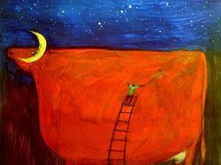 Свадебная прическа лунной коровы